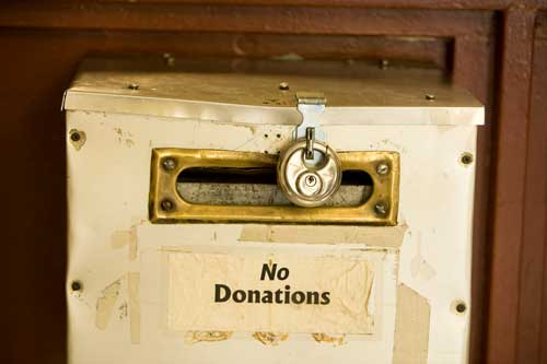 """Our """"No Donations"""" Policy"""